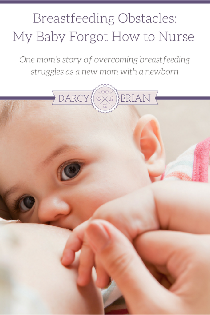 Breastfeeding your baby has its challenges. I know, because I almost gave up a couple weeks after my first baby was born. This is my story of overcoming a breastfeeding obstacle when my newborn forgot how to nurse.