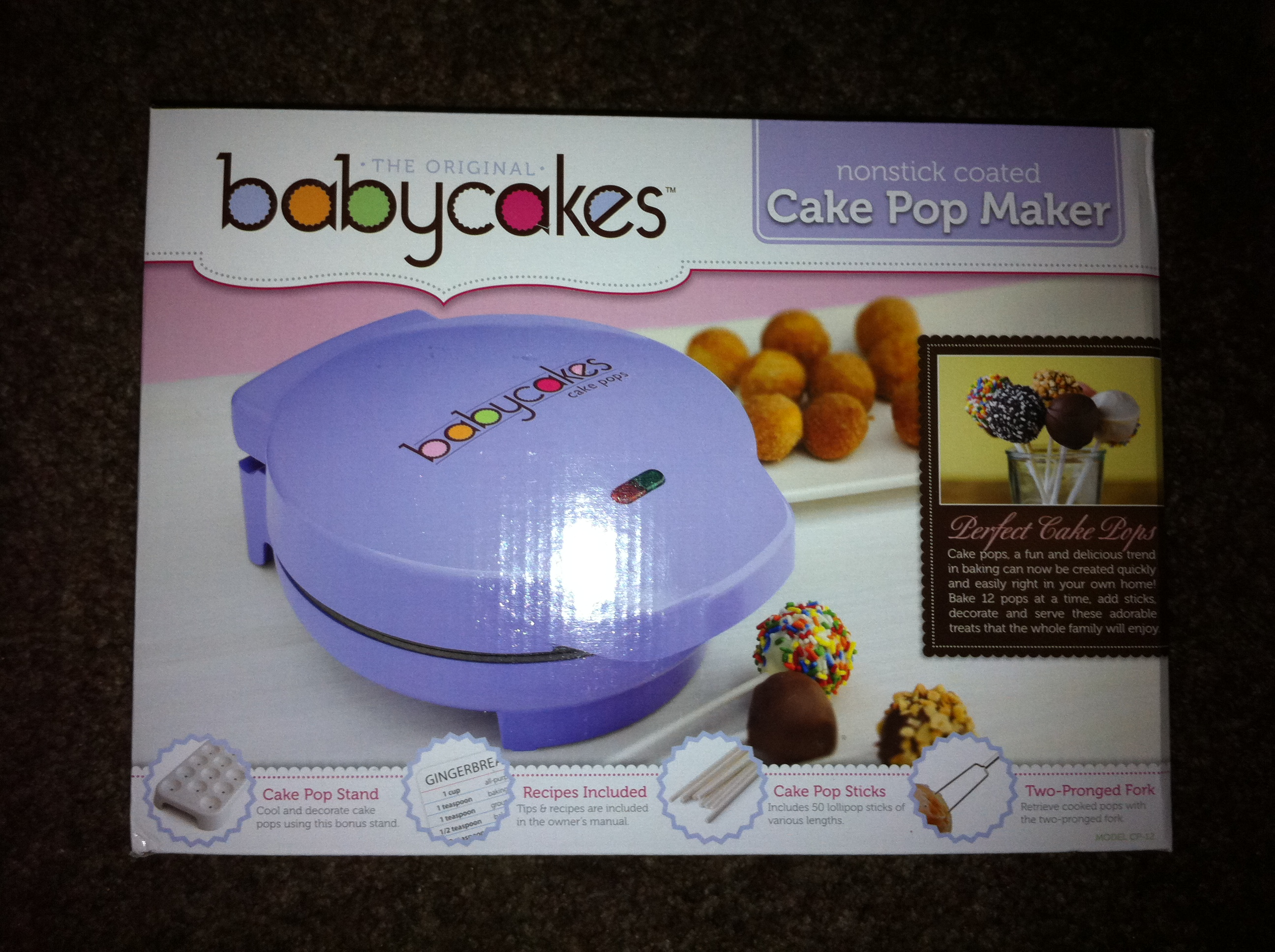 Baby Cake Pop Maker Instructions