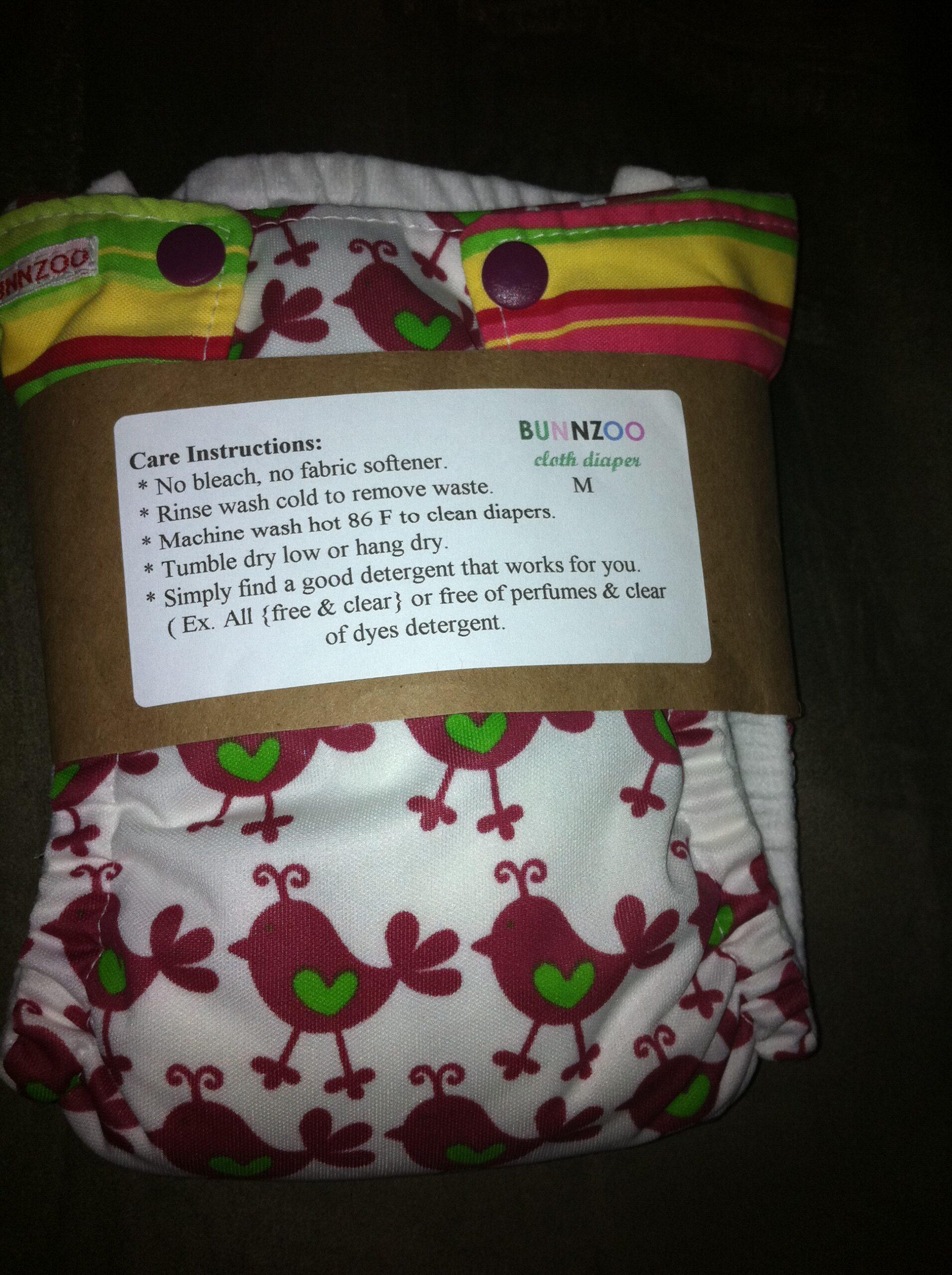 bunnzoo reusable diaper