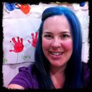 Cristi sportin' her blue hair!