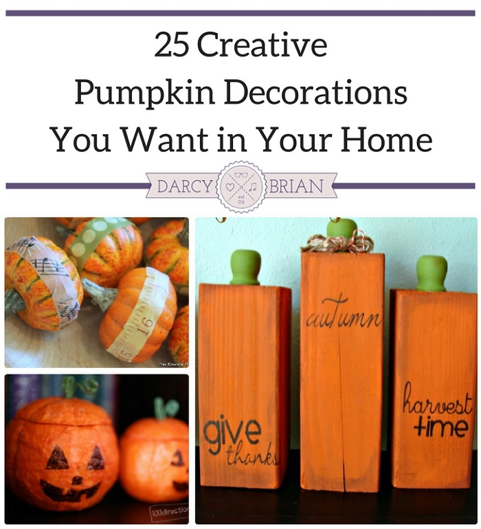 Looking for creative pumpkin decorations to put out this fall? These fun DIY projects will help you decorate for Halloween and Thanksgiving.