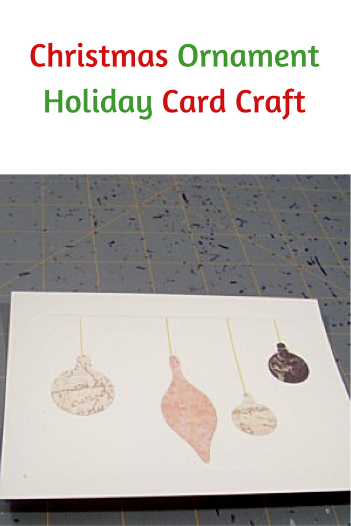 DIY Christmas Ornament Holiday Cards Craft Tutorial