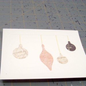 Completed Ornament Christmas Card Craft