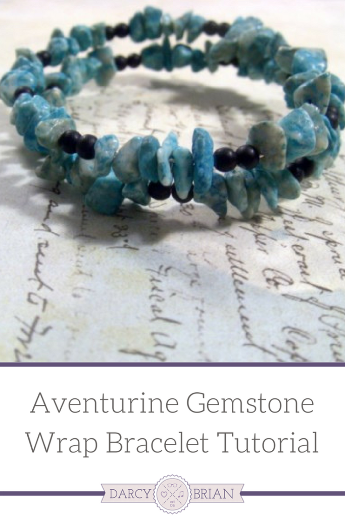 DIY Bead Wrap Bracelet Tutorial - Make this beautiful piece of jewelry to gift to friends and family this Christmas. Consider using different colored gemstones and beads to create a gorgeous accessory for your holiday outfit! Click through for the step-by-step instructions.