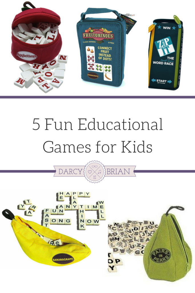Looking for the perfect stocking stuffer for your kids? The Bananagrams educational games are an excellent choice! Even when we aren't playing the game, my kids like to make up their own games to practice letter recognition and spelling. Not all Christmas stocking stuffers have to be candy and toys. We love how portable these games are for family travel too.