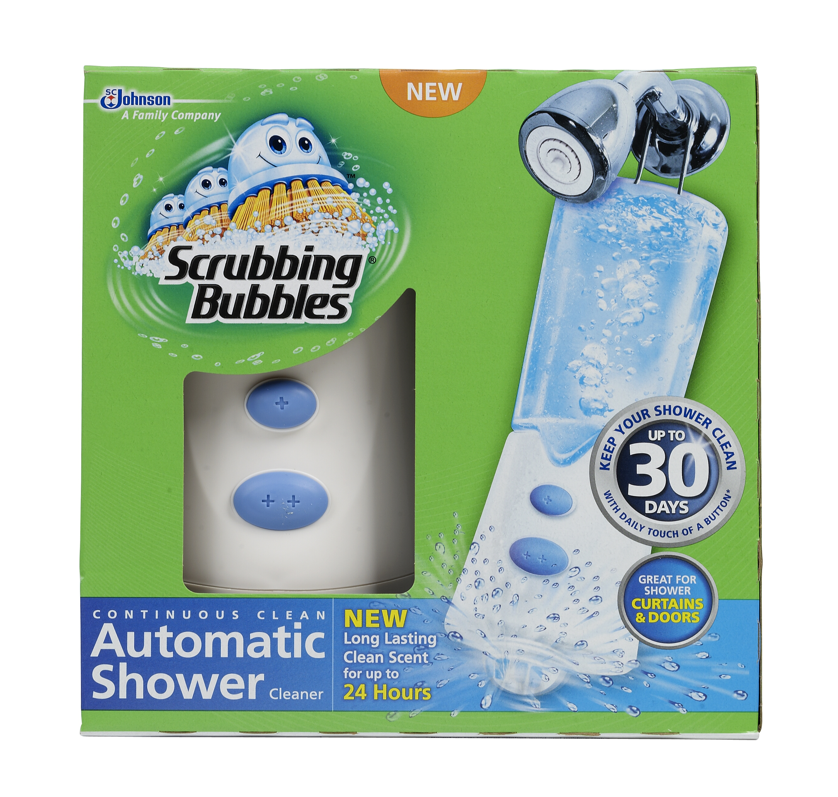 Scrubbing Bubbles Automatic Shower Cleaner, 70164, Front (no background)
