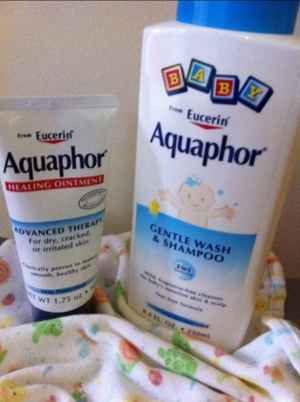 aquaphor healing ointment and gentle baby wash