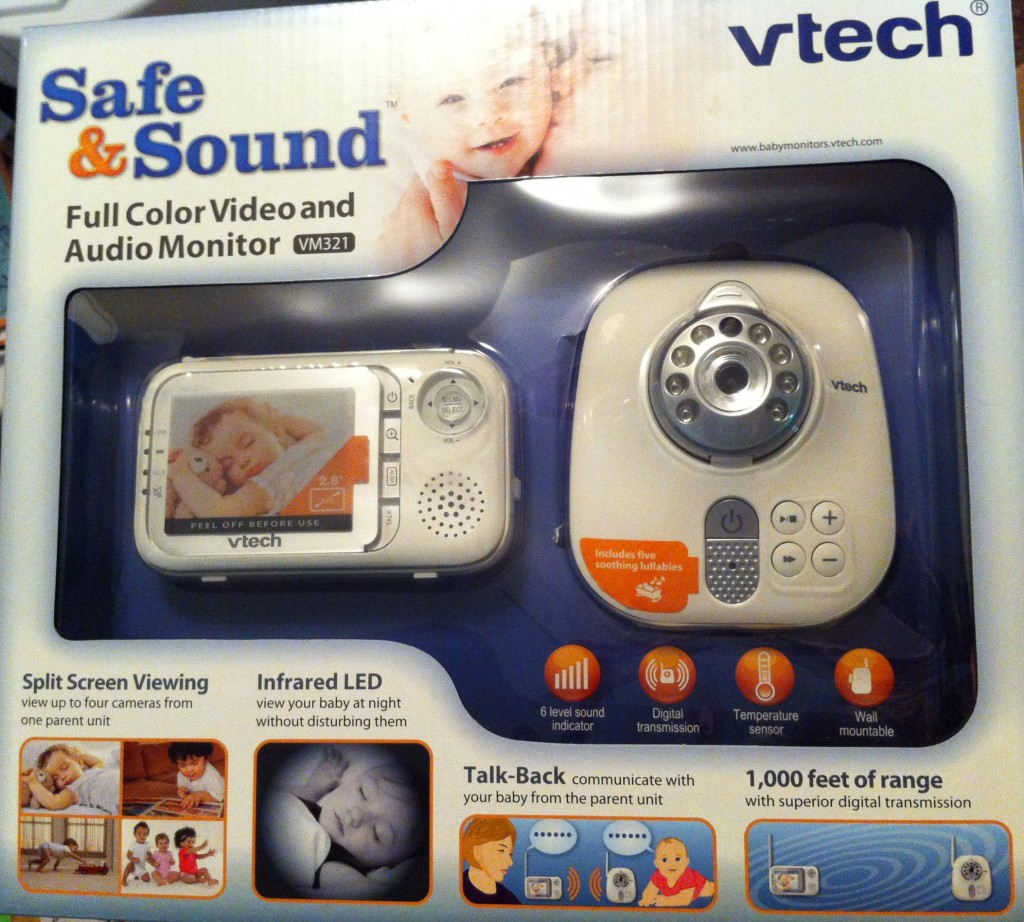 keeping an eye and ear on baby with the vtech safe sounds video and audio monitor life with. Black Bedroom Furniture Sets. Home Design Ideas
