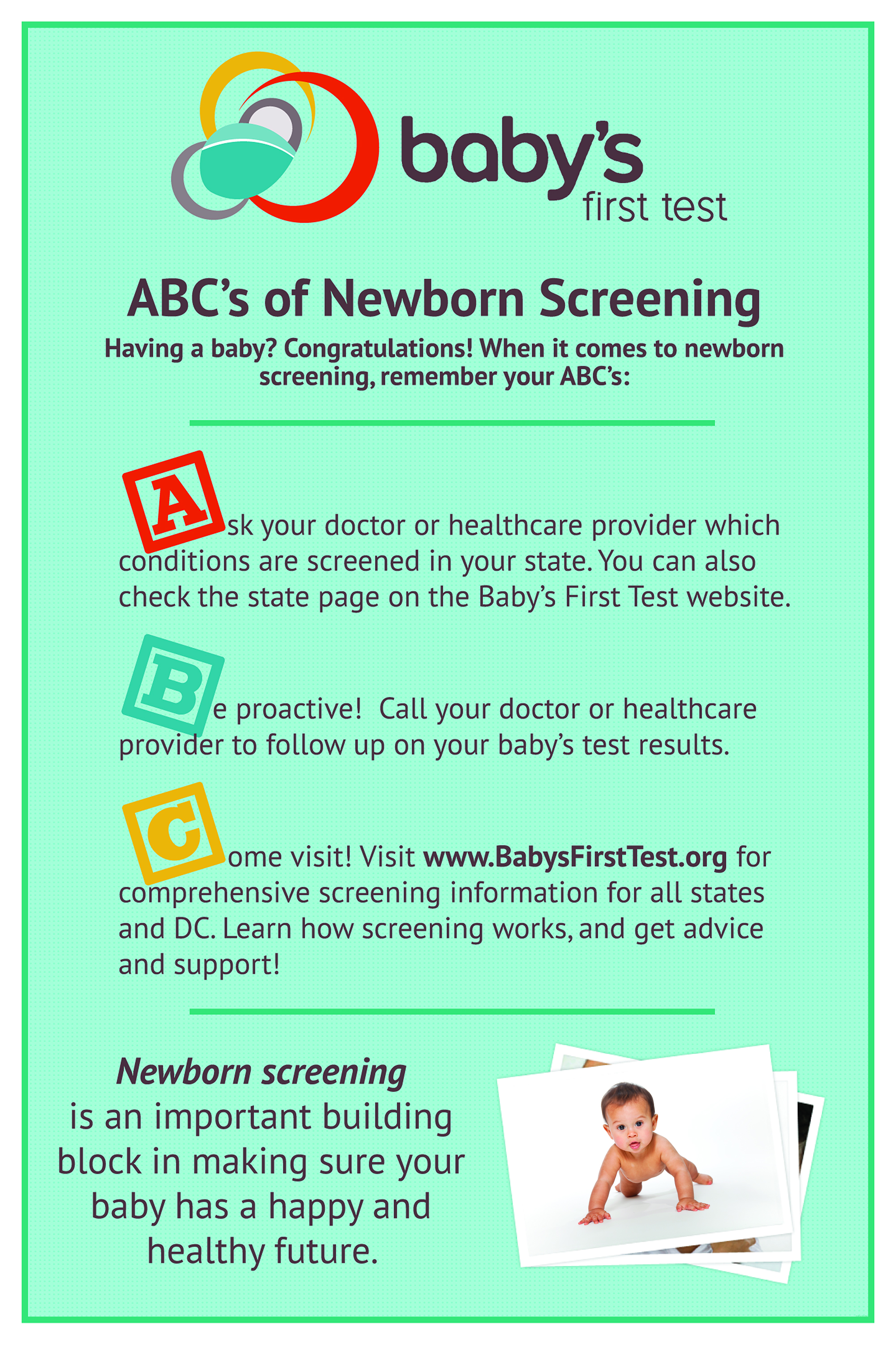 abcs of newborn screening
