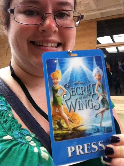 secret of the wings press badge