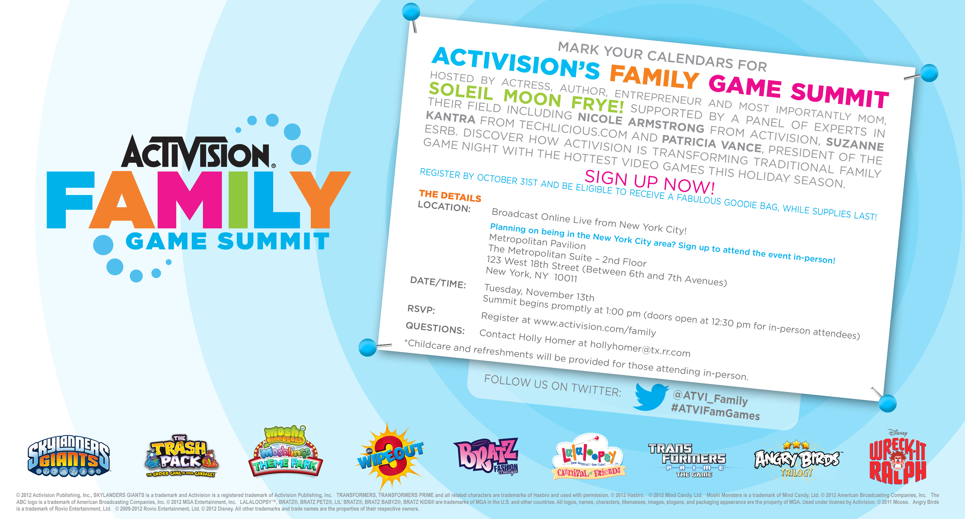 Activision Family Summit Invitation - Online
