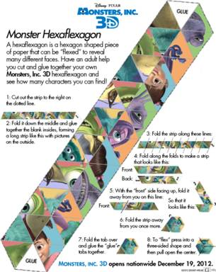 monster hexaflexagon