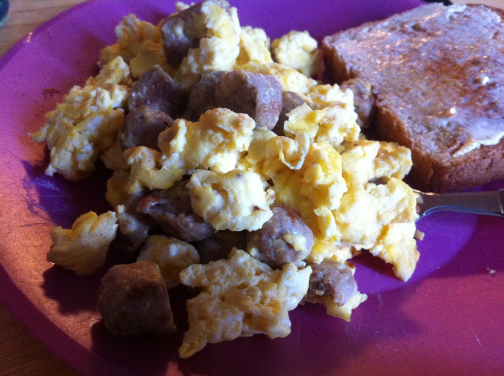 turkey sausage egg scrambler