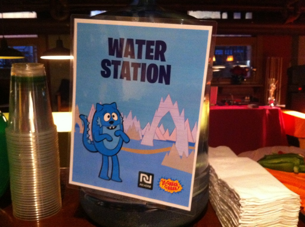 gabba party water station