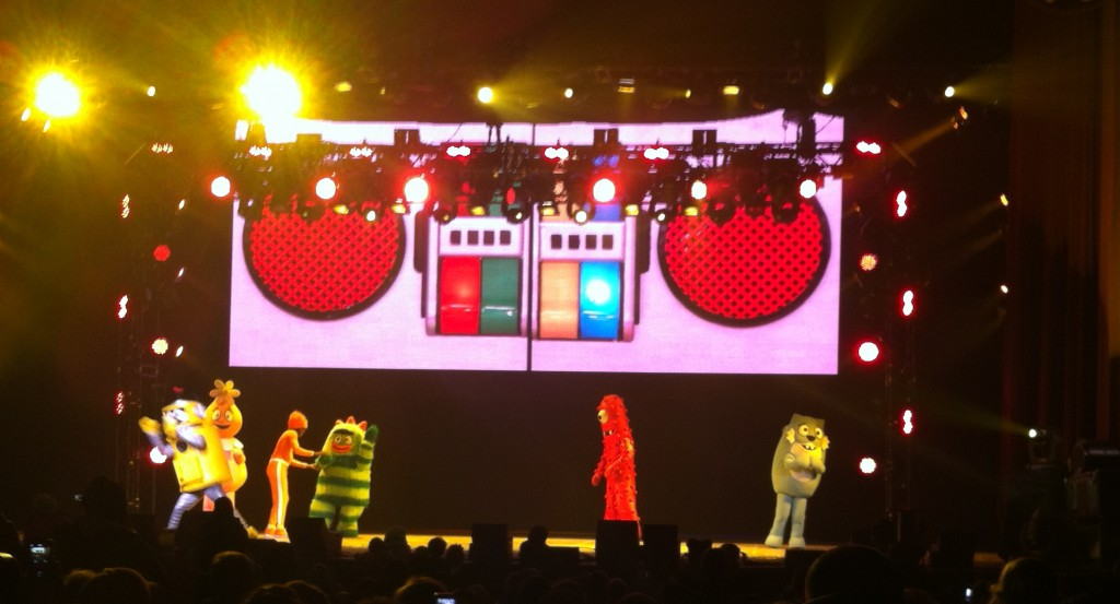 yo gabba gabba boombox on stage