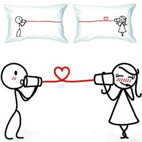 couples love pillowcases