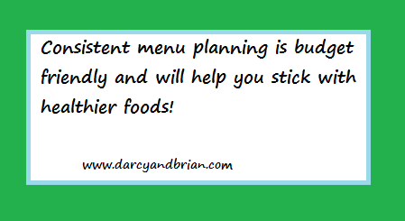 menu plan quote