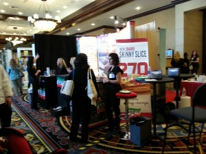 Sbarro booth at Blissdom