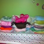 cloth diaper stash