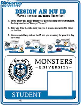 monsters university activity