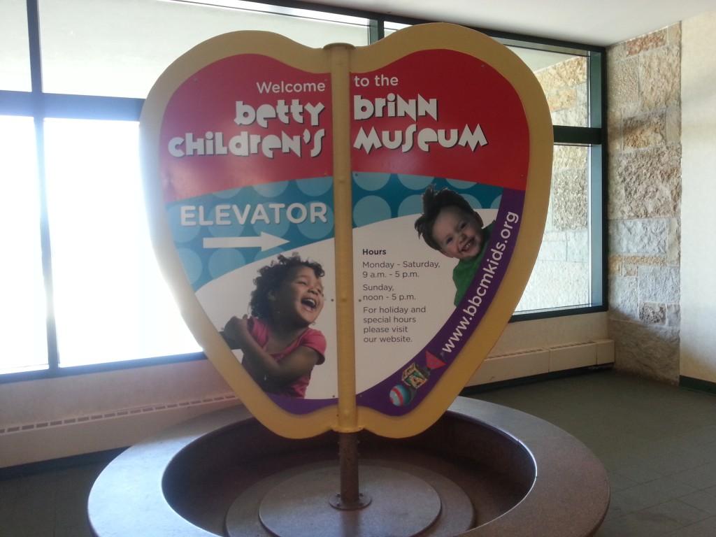 betty brinn children's museum sign