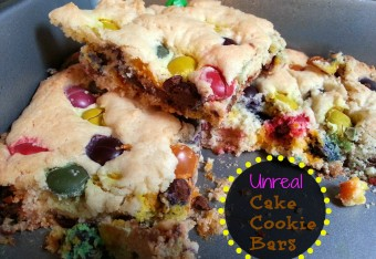 Unreal Cake Cookie Bars Recipe @darcyz #sweets