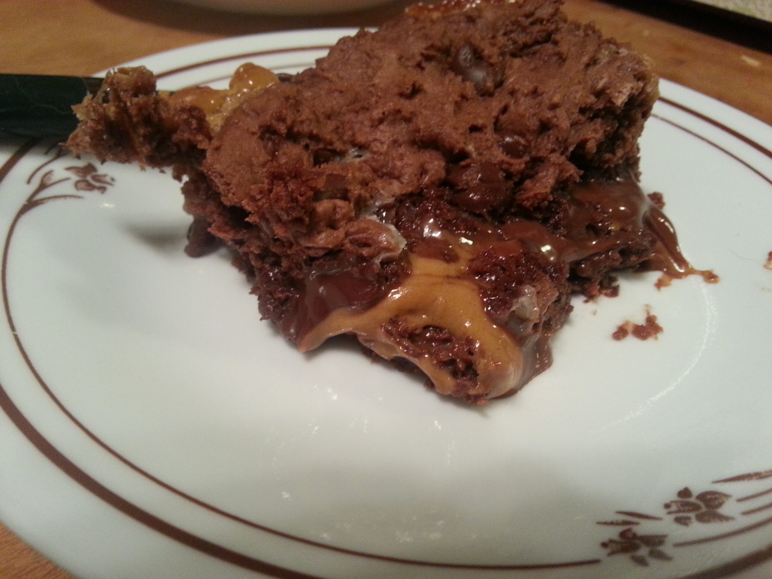 Chocolate Peanut Butter Gooey Bars with Unreal Peanut Butter Cups