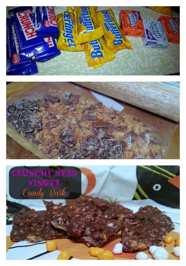 Crunchy Nerd Finger Candy Bark Recipe for Halloween Candy #TrickUrTreat #Shop
