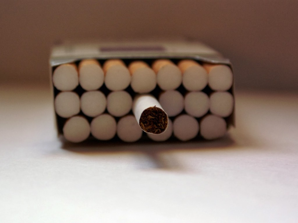open pack of cigs