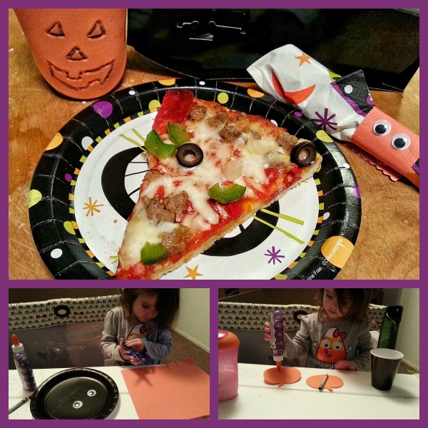 Tombstone Pizza on Halloween plate #shop