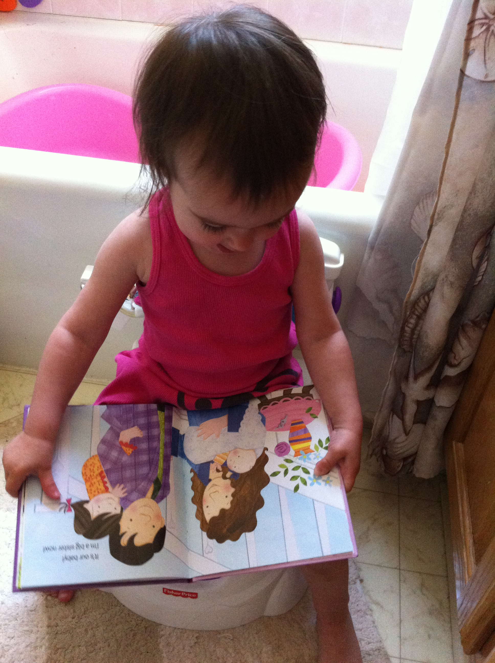 Reading on the potty!