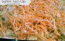 Lighter Taco Dip Recipe at http://www.darcyandbrian.com @Darcyz #partyfood