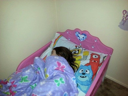 Sleeping in Toddler Bed