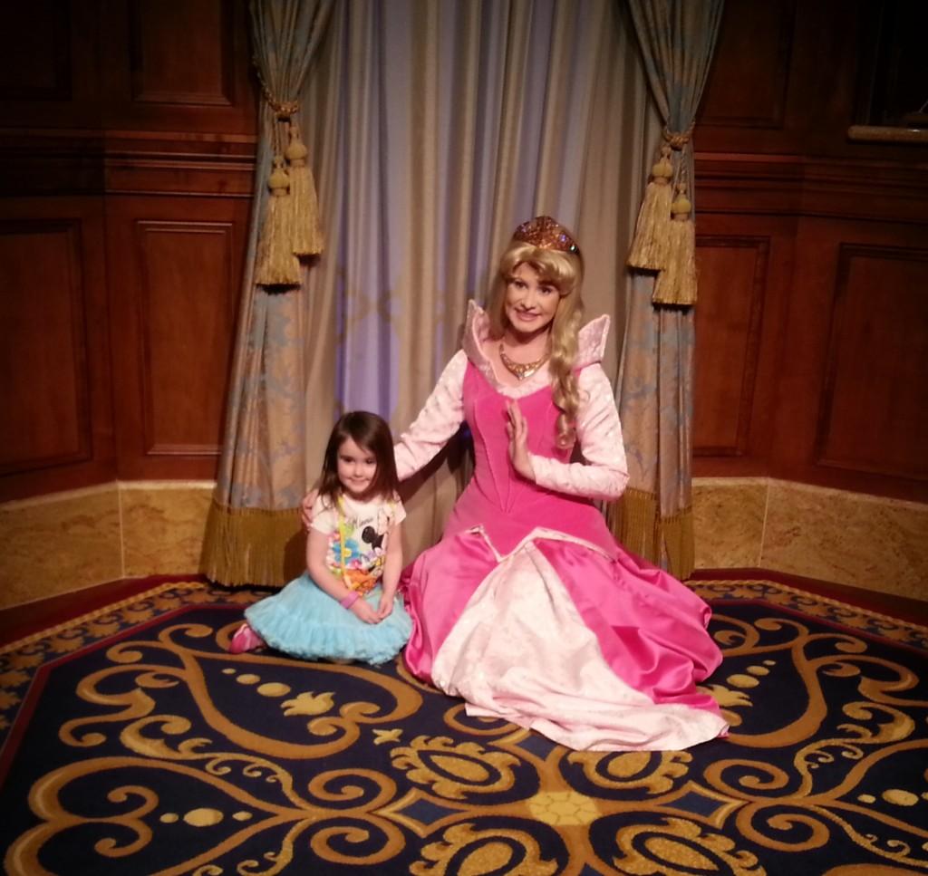 My daughter with Princess Aurora