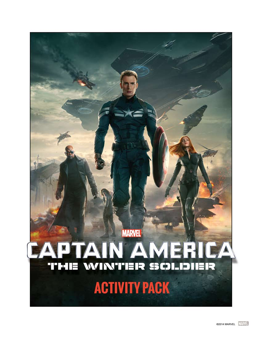 Captain America 2 Activity Pack Cover