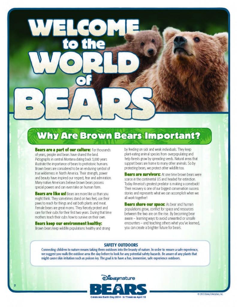 Disneynature Bears Activities