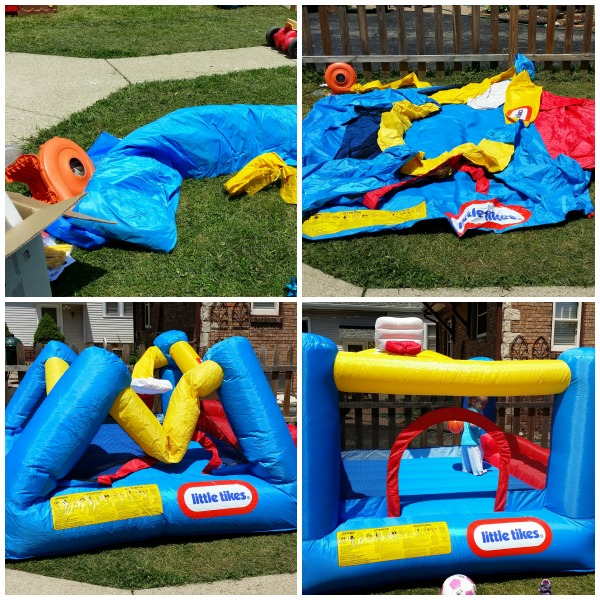 little tikes bouncer house set up collage