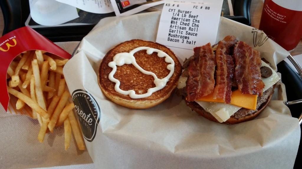my custom mcdonald's burger