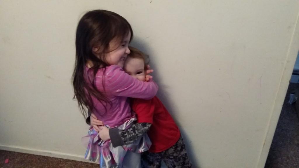 rissa and xander hugging
