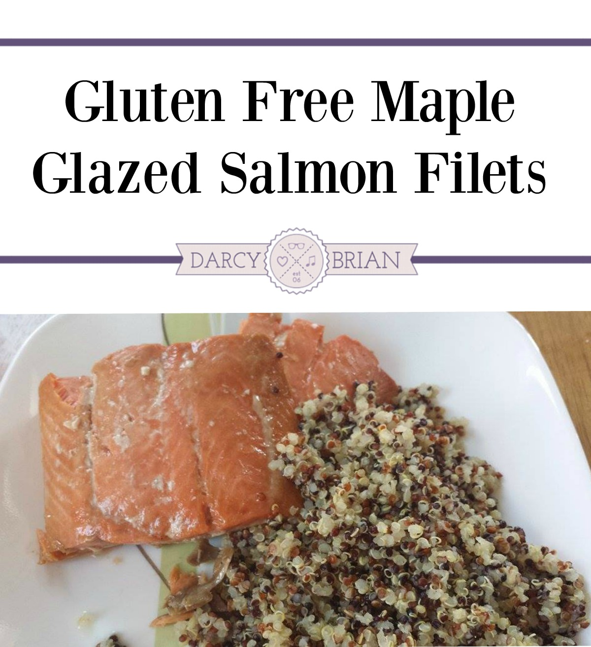 Make this delicious Maple Glazed Salmon Filets Recipe in under 30 minutes for a great Gluten Free meal the entire family will enjoy!