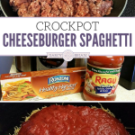 Get out your slow cooker for this easy dinner recipe! The whole family will love this Crockpot Cheeseburger Spaghetti Recipe.