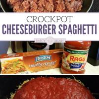 Easy Crockpot Cheeseburger Spaghetti Recipe