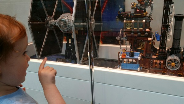LEGO Movie display at LEGO store
