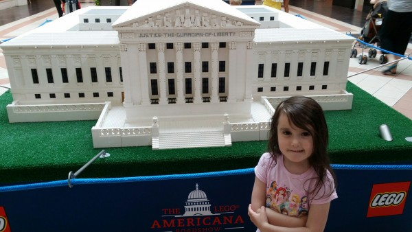 US Supreme Court LEGO replica at Mayfair Mall