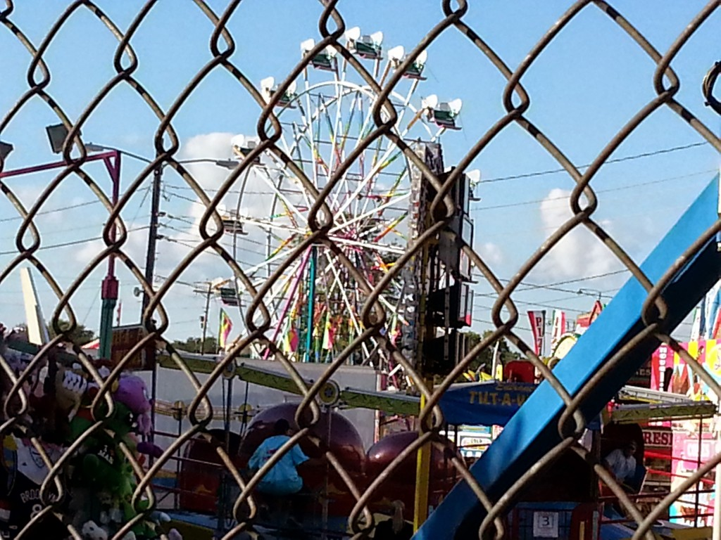 Ferris wheel at Ozaukee County Fair