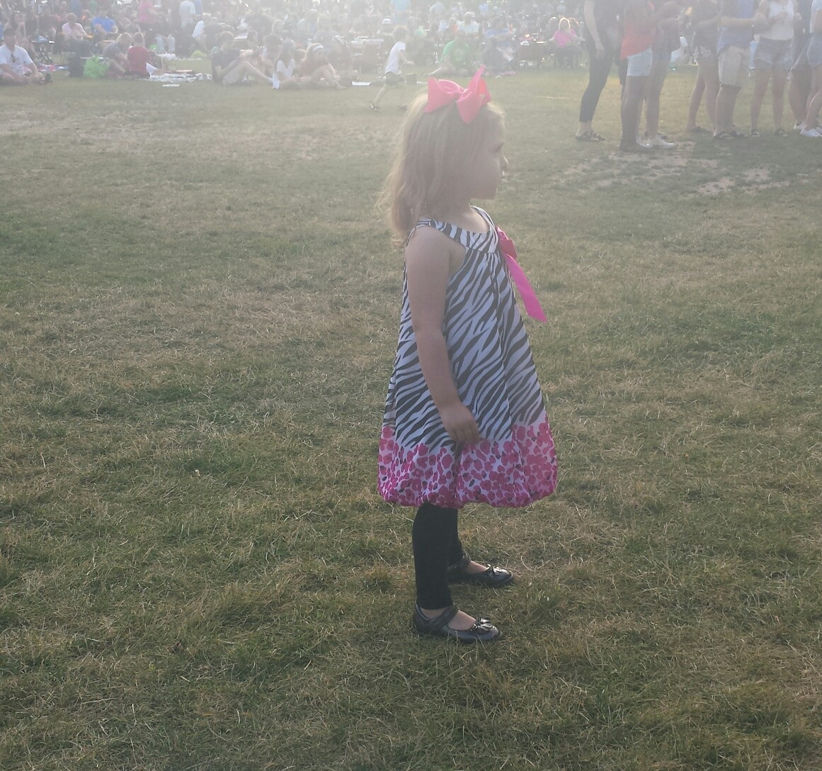 Little girl at Summer Sounds in Cedarburg