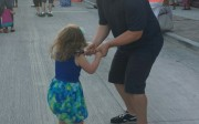 Daddy and daughter dancing at Friday Night Live in Waukesha
