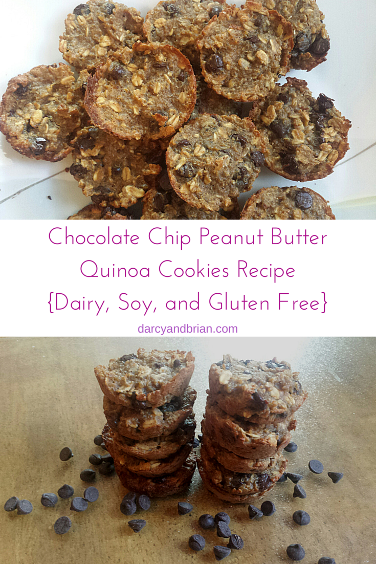 Chocolate Chip Peanut Butter Quinoa Cookies