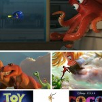 Pixar and Walt Disney Animation Studios Collage
