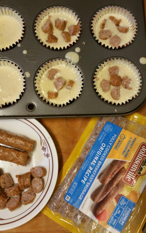 How to make sausage pancake muffins